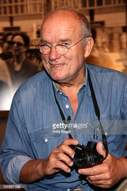 German fashion photographer Peter Lindbergh attends a press conference to promote his exhibition 'On Street' at C/O Berlin on September 24 2010 in...
