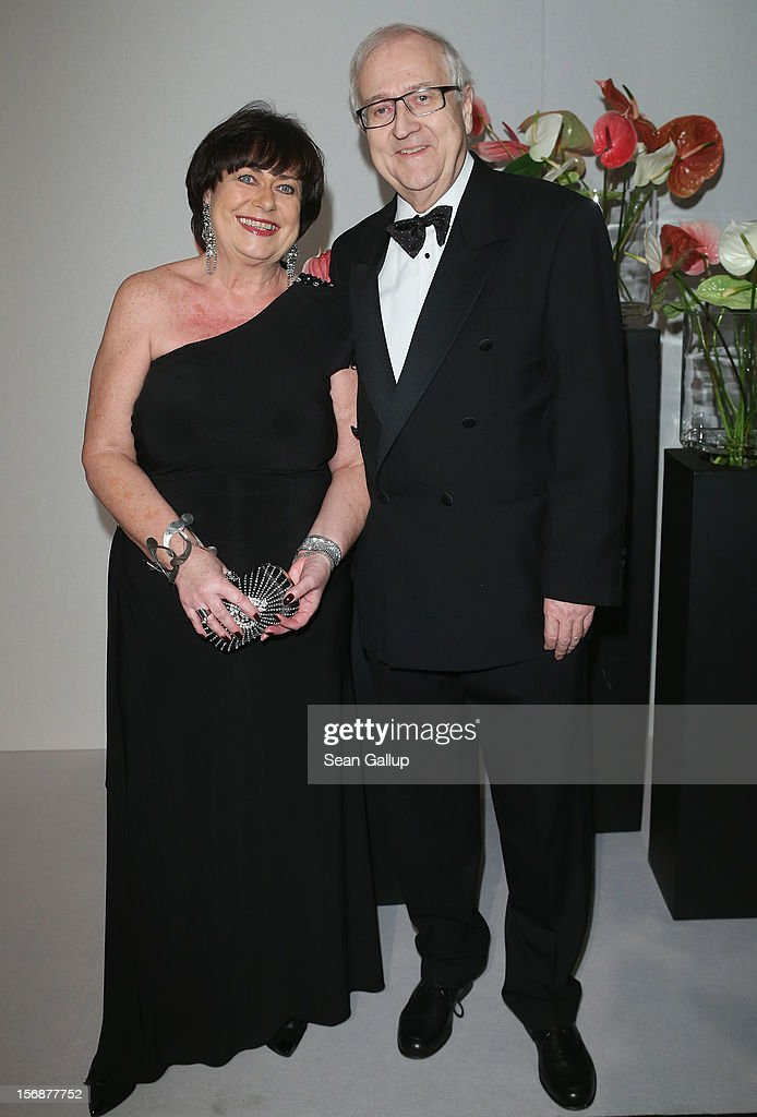 German FDP politician Rainer Bruederle and his wife Angelika attend the 2012 Bundespresseball (Federal Press Ball) at the Intercontinental Hotel on November 23, 2012 in Berlin, Germany.