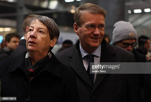German federal Environment Minister Barbara Hendricks and Ronald Pofalla former Chief of Staff of the German Chancellery and member of the...