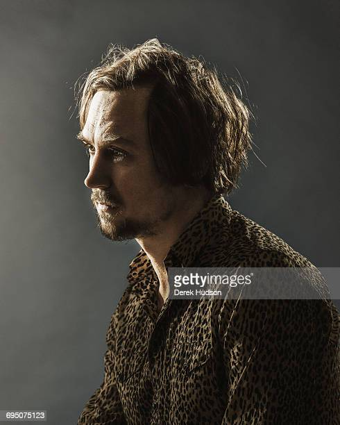 German film and theatre actor Lars Eidinger pictured in a makeshift studio at the Schaubühne theatre at Lehniner Platz on the Kurfurstendamm Berlin...