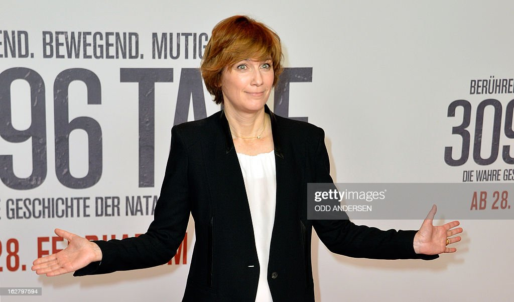 German film director Sherry Hormann poses for photographers as she arrives for the screening of '3096 days', a film based on Kampusch story, on February 27, 2013 at in Berlin. The film, based on the ordeal of Natascha Kampusch, is on set to open on February 28, 2013 in the German cinemas.
