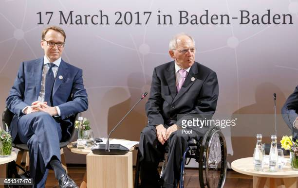 German Finance Minister Wolfgang Schaeuble and President of the German Bundesbank Jens Weidmann during the G20 HighLevel Symposium 'Global Economic...