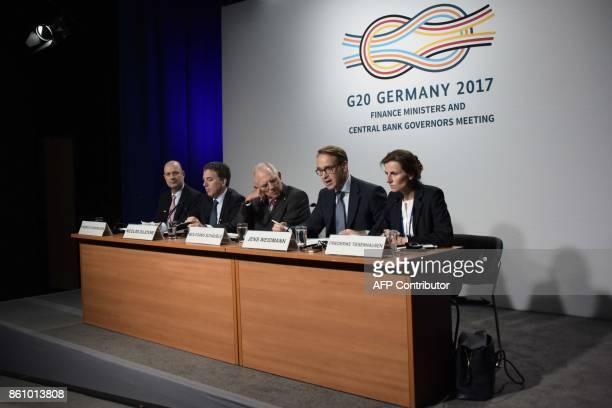 German Finance Minister Wolfgang Schauble German Bundesbank President Jens Weidman Argentinian Treasury Minister Nicolas Dujovne and Argentinian...