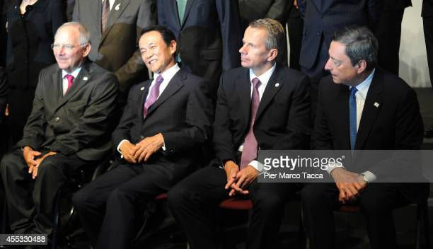 German Finance Minister Wolfgang Schauble Minister of Finance of JapanTaro Aso Minister of Finance of Estonia Jurgen Ligi and The President of the...
