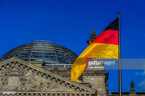 German flag at the Reichstag