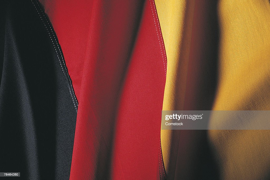 German flag , closeup : Stock Photo