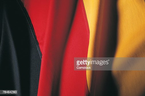 German flag , closeup : Stock Photo