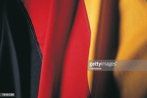 German flag , closeup