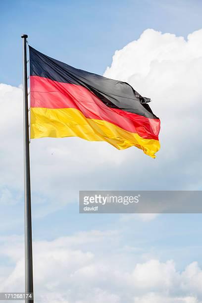 Deutsche Flagge fliegen in Berlin