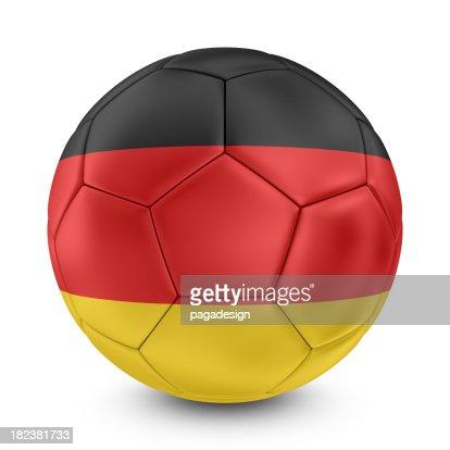 german flag on football