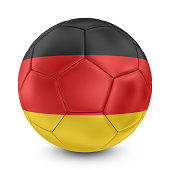 german flag on football