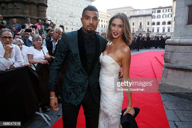 German football player KevinPrince Boateng and his girlfriend Melissa Satta attend the Celebrity Fight Night gala at Palazzo Vecchio during 2015...