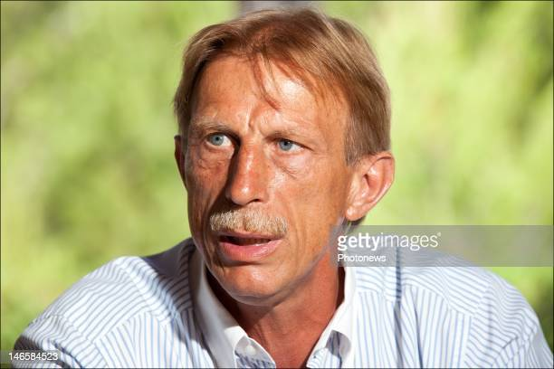 German football trainer Christoph Daum pictured during an interview held during his holiday to his holiday home in Palma De Mallorca on June 13 2012...
