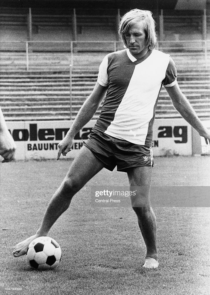 German footballer Gunter Netzer at the Hardturm stadium, Zurich, shortly after joining the the Grasshopper Club Zurich, from Real Madrid, 21st July 1976.