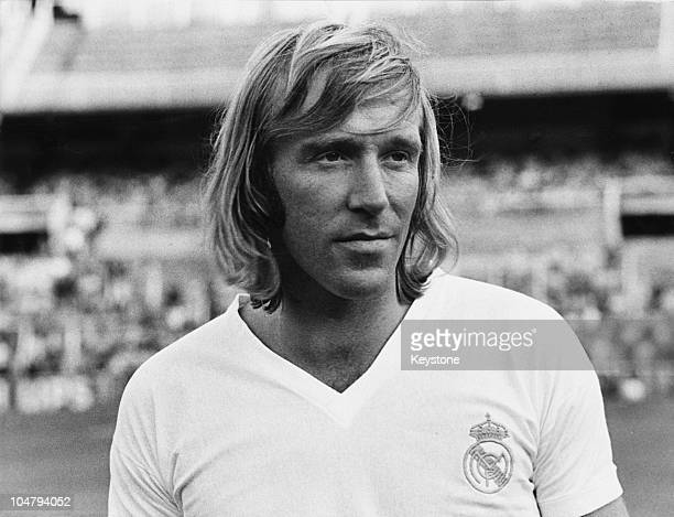 German footballer Gunter Netzer in a Real Madrid strip shortly after his transfer from Borussia Monchengladbach Spain July 1973
