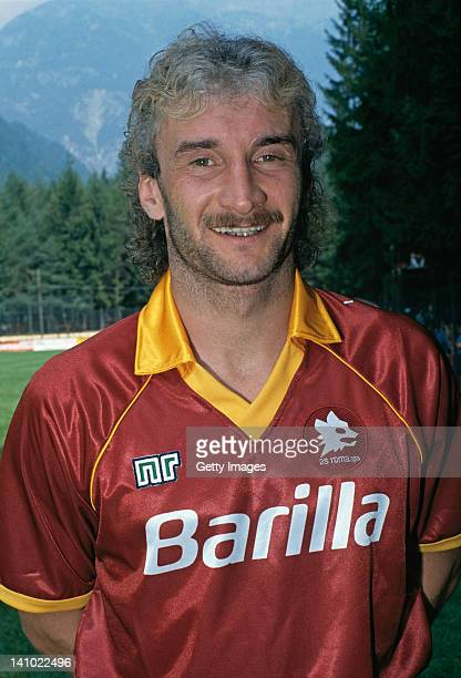 German footballer Rudi Voller of AS Roma 4th August 1990