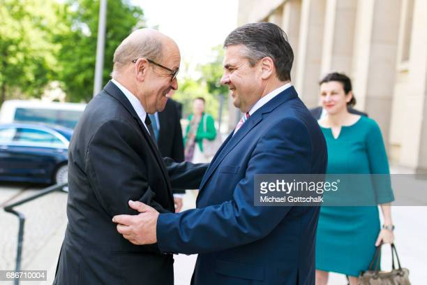 German Foreign Minister and Vice Chancellor Sigmar Gabriel and French Foreign Minister JeanYves Le Drian meet for first time in Germany's Foreign...
