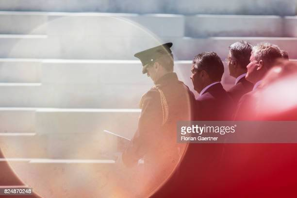German Foreign Minister and Vice Chancellor Sigmar Gabriel is pictured during the Commemoration Ceremony of the Battle of Passchendaele on July 31...