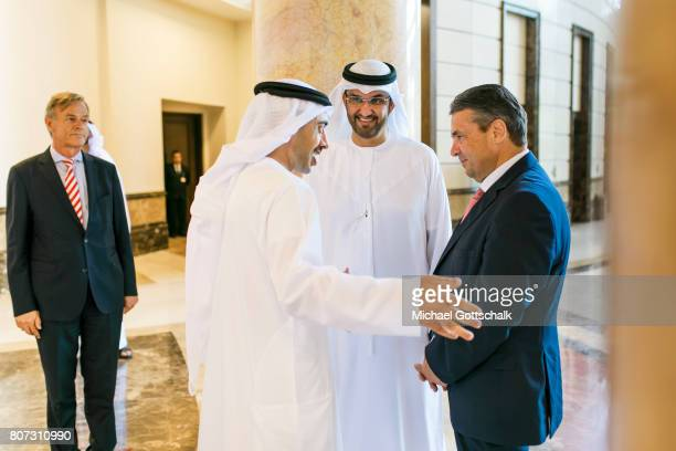 Abu Dhabi United Arab Emirates July 04 German Foreign Minister and Vice Chancellor Sigmar Gabriel meets with foreign minister Sheik Abdullah bin...