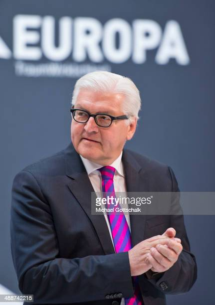 German Foreign Minister FrankWalter Steinmeier attends European Writers Confernce on May 8 2014 in Berlin Germany