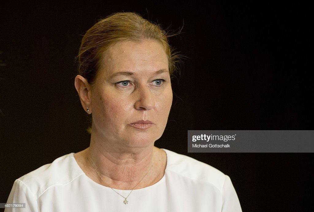 German Foreign Minister Frank-Walter Steinmeier (not in picture) meets Israeli Minister for Justice, <a gi-track='captionPersonalityLinkClicked' href=/galleries/search?phrase=Tzipi+Livni&family=editorial&specificpeople=537394 ng-click='$event.stopPropagation()'>Tzipi Livni</a>, on July 15, 2014 in Tel Aviv, Israel. Steinmeier travels to Jordan, Israel and Palestinian Territories to discuss the current situation in Israel and Gaza.