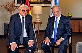 German Foreign Minister FrankWalter Steinmeier meets Israeli Prime Minister Benjamin Netanyahu prior to bilateral talks on October 22 2015 in Berlin...