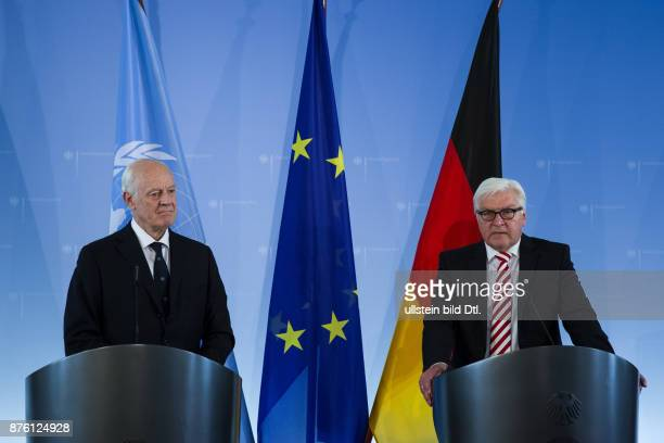 German Foreign Minister FrankWalter Steinmeier meets the special envoy of the UN for Syria Staffan de Mistura on 22 July 2016 the Federal Foreign...