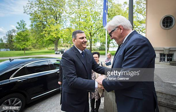 German Foreign Minister FrankWalter Steinmeier meets the syrian representative of the opposition Riad Hijab on May 04 2016 in Berlin Germany They get...