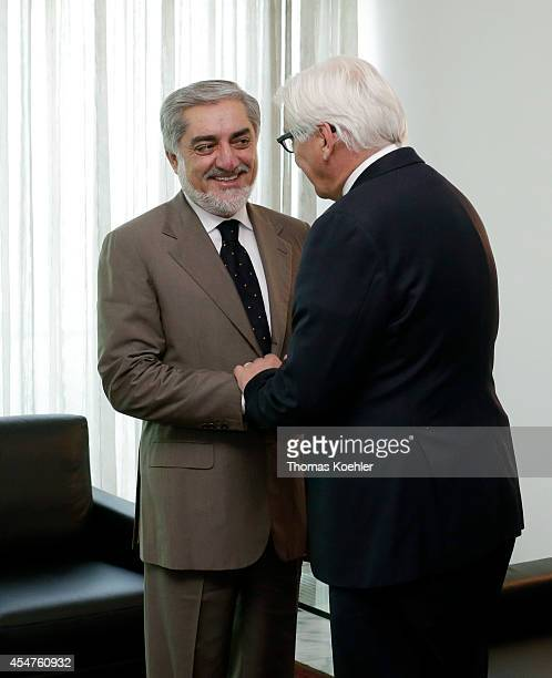 German Foreign Minister FrankWalter Steinmeier meets with Abdullah Abdullah candiate of presidential election 2014 on September 06 2014 in Kabul...