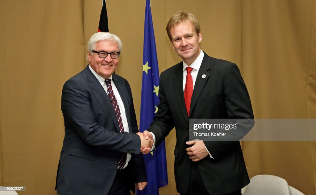 German Foreign Minister FrankWalter Steinmeier meets with Peter Sorensen European Union Special Representative to Bosnia and Herzegovina on May 26...