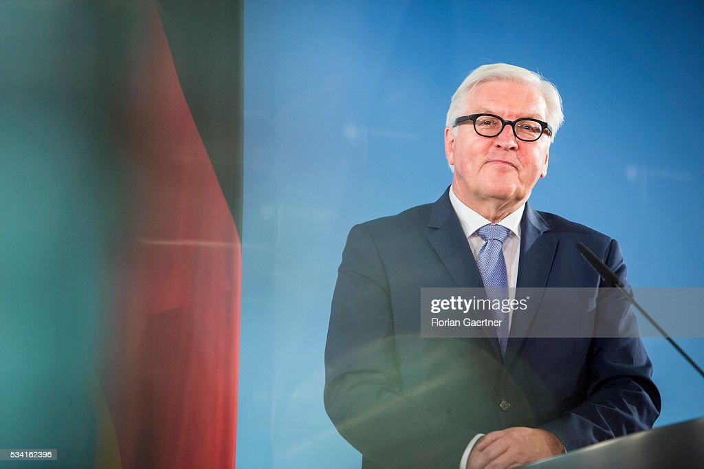 German Foreign Minister Frank-Walter Steinmeier on May 25, 2016 in Berlin, Germany.