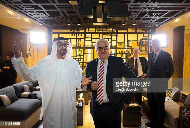 German Foreign Minister FrankWalter Steinmeier visits Emirates May 2014 Meeting with crown prince SH Scheich Mohamed bin Zayed Al NahyanSteinmeier is...