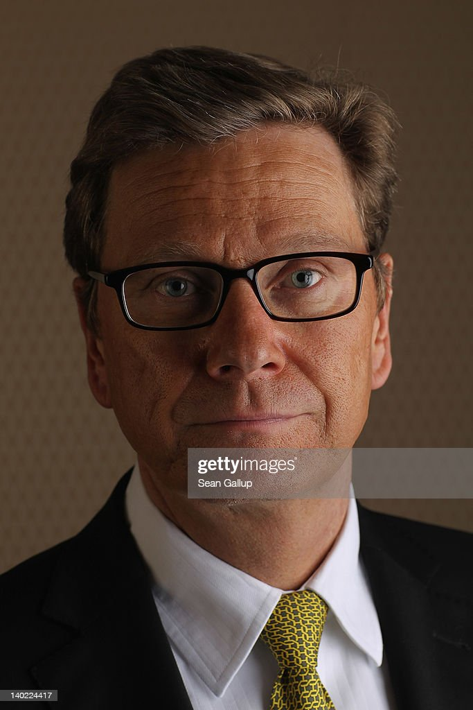 German Foreign Minister Gudio Westerwelle poses for a brief portrait prior to speaking to members of the Foreign Journalists' Association at the Foreign Ministry on March 1, 2012 in Berlin, Germany. Westerwelle is a leading member of the German Free Democrats (FDP) political party.