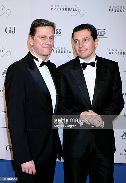 German Foreign Minister Guido Westerwelle and his partner Michael Mronz attend the annual press ball 'Bundespresseball' at the Intercontinental Hotel...