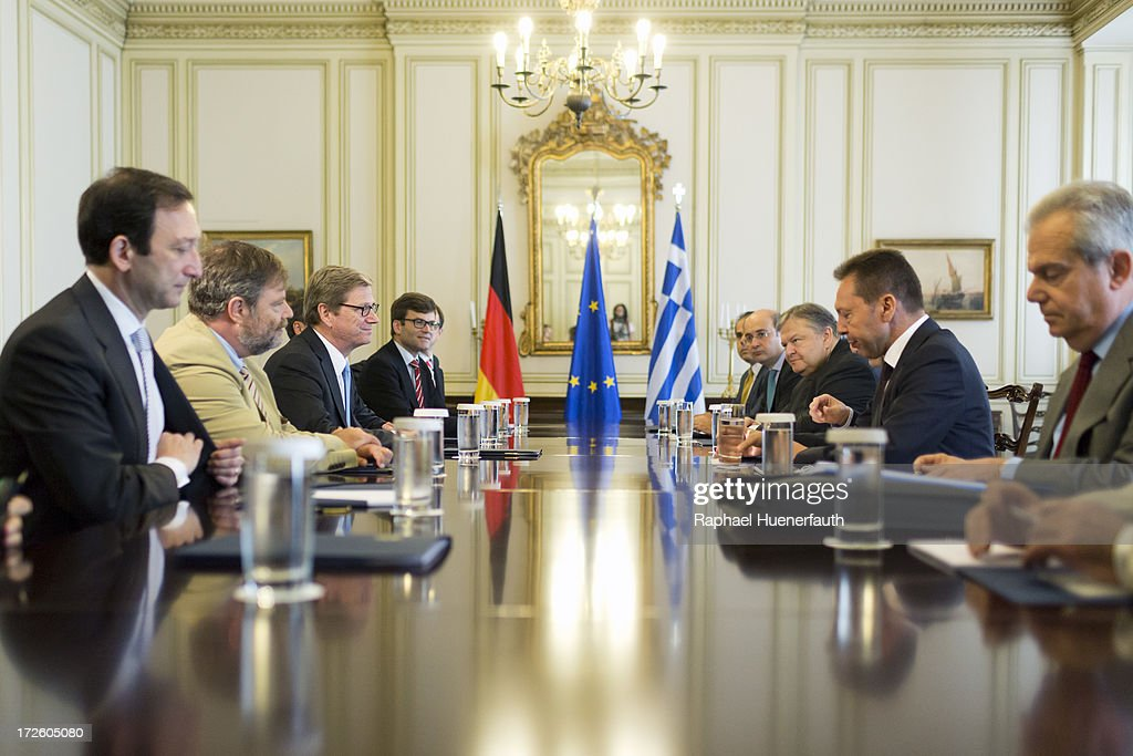 German Foreign Minister Westerwelle Visits Athens