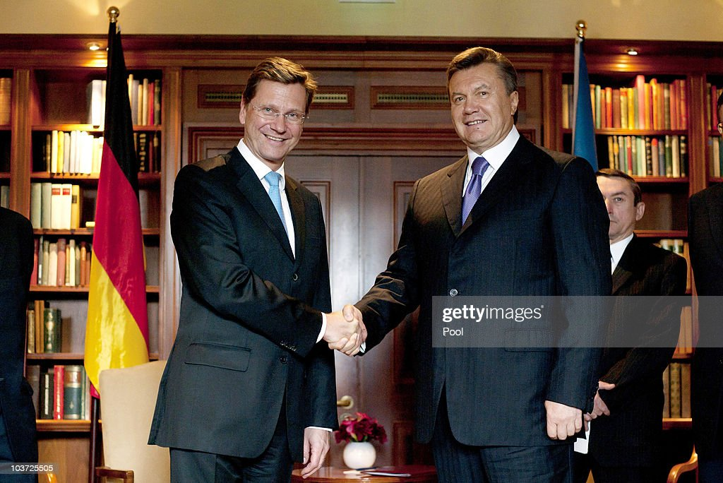 German Foreign Minister Welcomes Ukrainian President Yanukovych