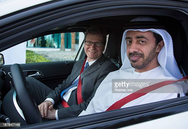German Foreign Minister Guido Westerwelle meets with his Abu Dhabi counterpart Sheikh Abdullah bin Zayed Al Nahyan here Sheikh Zayed drives...