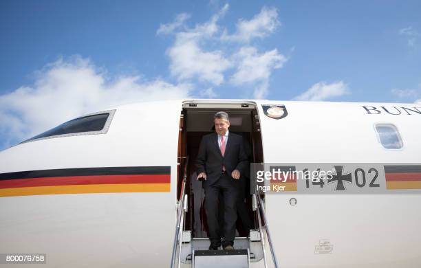 German Foreign Minister Sigmar Gabriel arrives on the airport on June 23 2017 in Paris France Gabriel is on a two day trip to Paris and Prague to...
