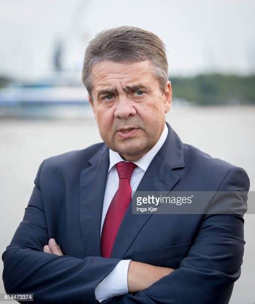 German Foreign Minister Sigmar Gabriel joins the the G 20 summit on July 07 2017 in Hamburg Germany