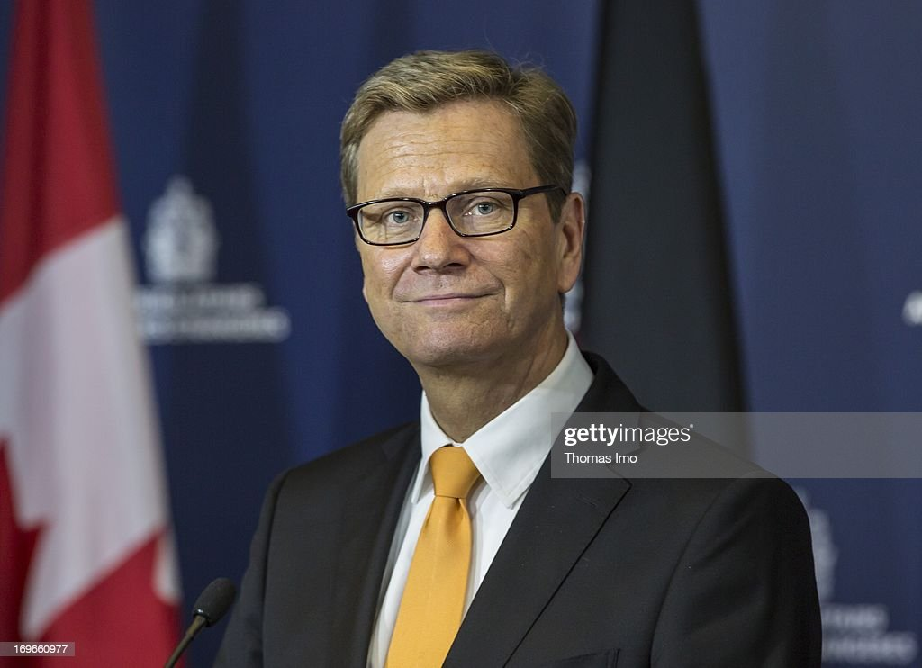 German Foreign Minister Westerwelle holds a press confrence with John Russell Baird, the Canadian Foreign Minister, on May 30, 2013 Ottawa, Canada. Westerwelle is due to discuss both bilateral and international issues, including the ongoing conflict in Syria and the nuclear threat from Iran.