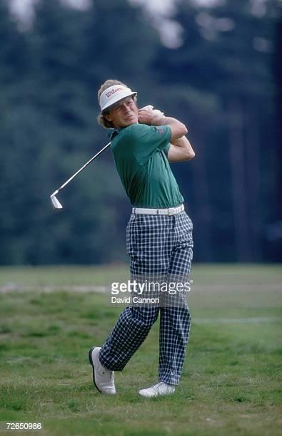 German golfer Bernhard Langer at the 1986 PanEuropean Open