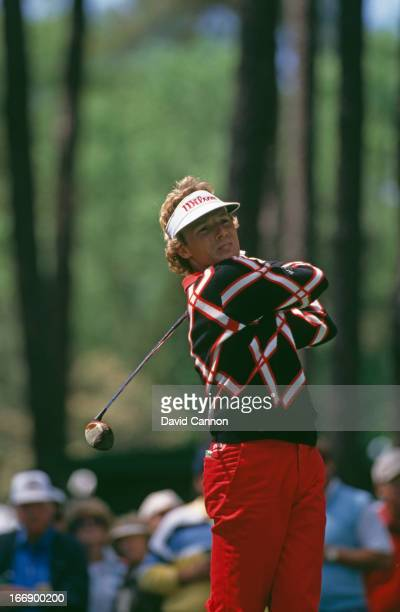 German golfer Bernhard Langer at the US Masters Tournament at Augusta National Golf Club Augusta Georgia 7th10th April 1988