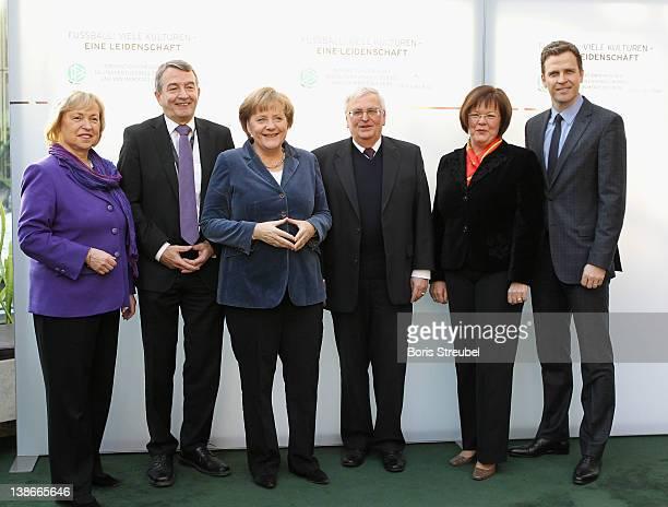 German government's Integration coordinator Maria Boehmer Wolfgang Niersbach General Secretary of the German football association German Chancellor...