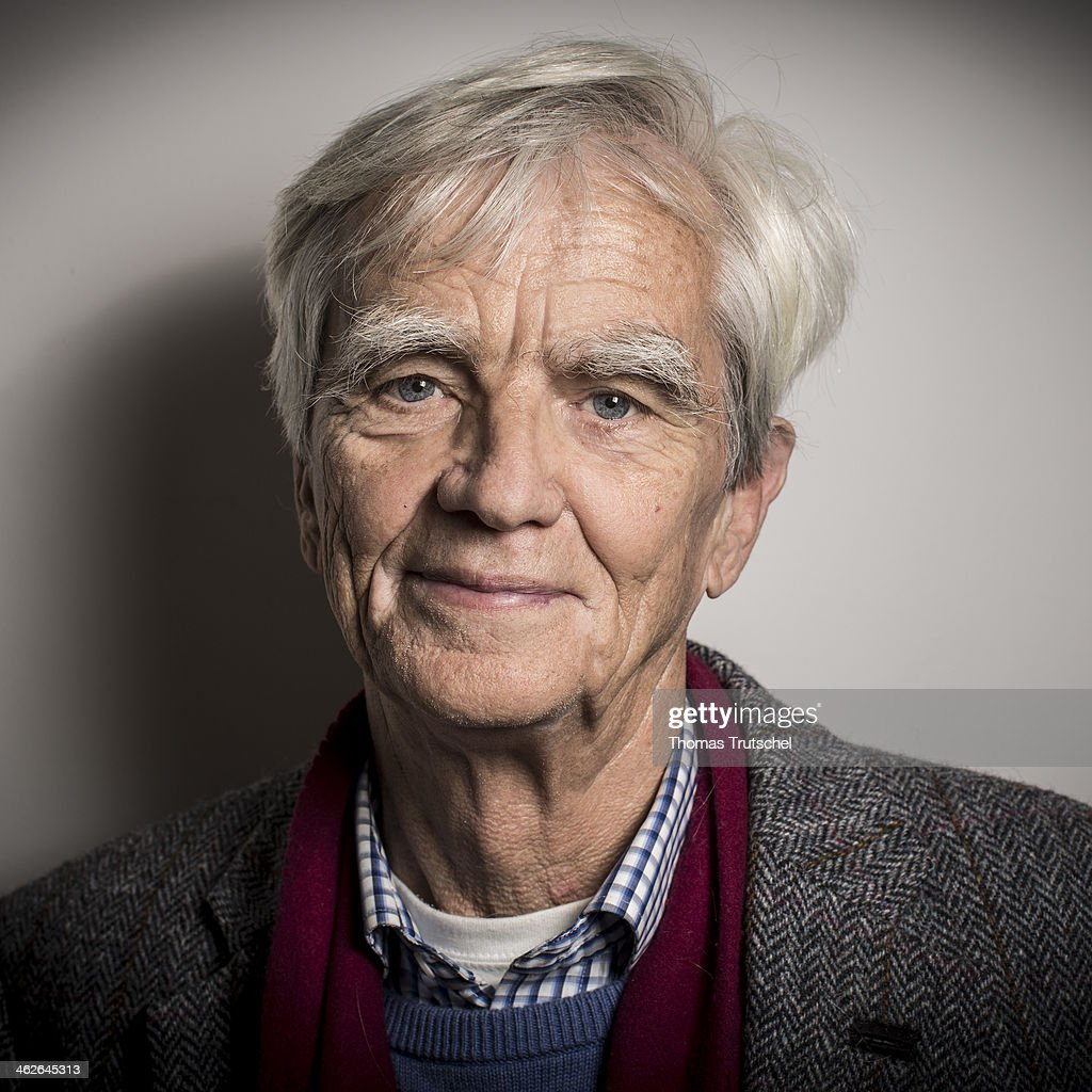 German Green Party Bundestag Member Hans-Christian Stroebele poses during a portrait session on January 14, 2014 in Berlin, Germany.