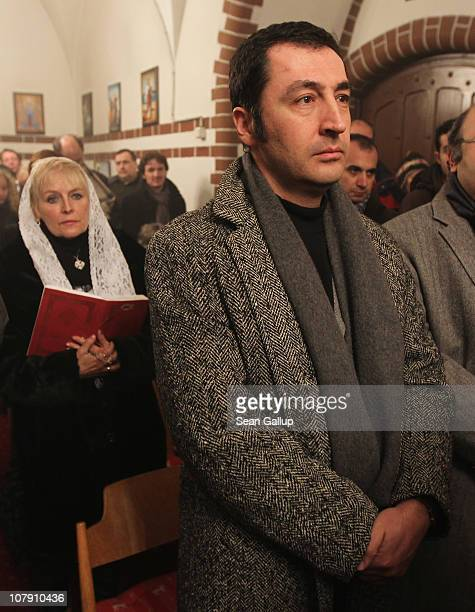 German Greens Party politician Cem Oezdemir attends a Coptic Orthodox Christmas mass at the St Antonius and St Shenouda Church on January 6 2011 in...