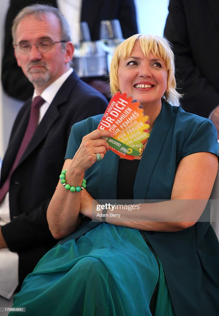 German Greens Party politician <a gi-track='captionPersonalityLinkClicked' href=/galleries/search?phrase=Claudia+Roth&family=editorial&specificpeople=235978 ng-click='$event.stopPropagation()'>Claudia Roth</a> attends a dinner at the Orangerie at Schloss Charlottenburg palace on June 19, 2013 in Berlin, Germany. U.S. President Barack Obama is visiting Berlin for the first time during his presidency and his speech at the Brandenburg Gate is to be the highlight. Obama spoke close to the 50th anniversary of the historic speech by then U.S. President John F. Kennedy in Berlin in 1963, during which he proclaimed the famous sentence: 'Ich bin ein Berliner.'
