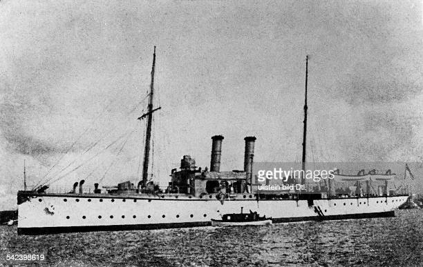 German gunboat SMS 'Panther' deployed during the second morocco crisis off shore Agadir 1911 'Panther's leap' July 1911