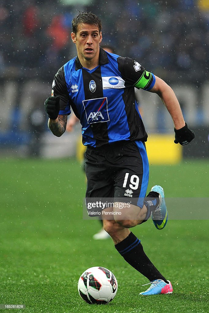 German Gustavo Denis of Atalanta BC in action during the Serie A match between Atalanta BC and UC Sampdoria at Stadio Atleti Azzurri d'Italia on March 30, 2013 in Bergamo, Italy.