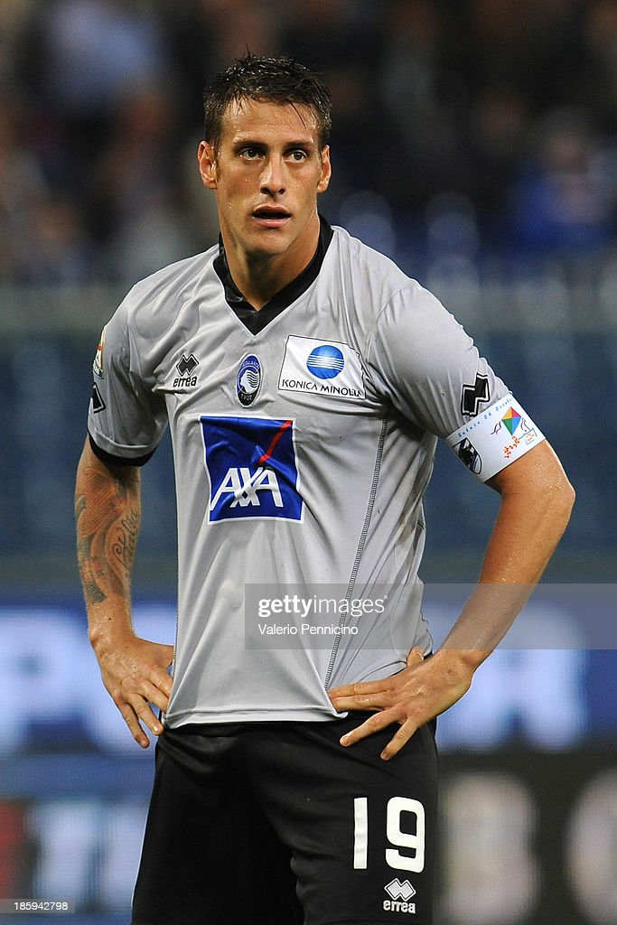 German Gustavo Denis of Atalanta BC looks dejected during the Serie A match between UC Sampdoria and Atalanta BC at Stadio Luigi Ferraris on October 26, 2013 in Genoa, Italy.