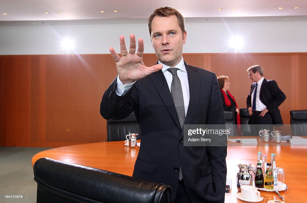 German Health Minister Daniel Bahr arrives for the German federal Cabinet meeting on March 20, 2013 in Berlin, Germany. High on the morning's agenda was discussion of proposed laws pertaining to preventative health measures as well as the proposed ban on the right-wing National Democratic Party (Nationaldemokratische Partei Deutschlands, or NPD), which, contrary to a joint bid by Germany's 16 states, the federal government has not supported.
